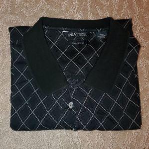 EUC Men's 3-button short-sleeved polo (2X)